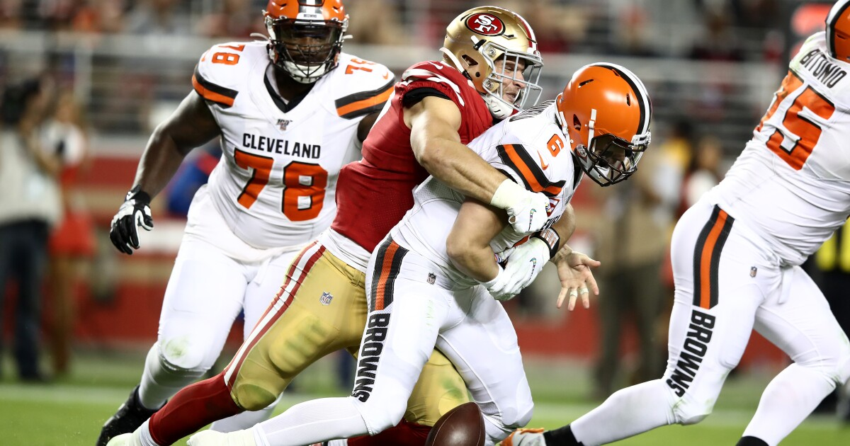 Baker Mayfield's antics come back to haunt him in Browns' loss to 49ers