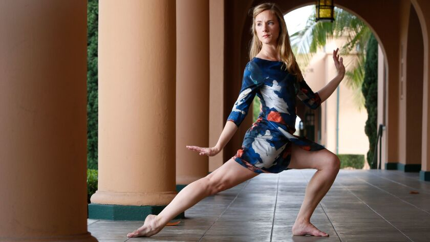 SAN DIEGO, CA: September 1, 2017 | Blythe Barton, dance artist, photographed at Liberty Station. She