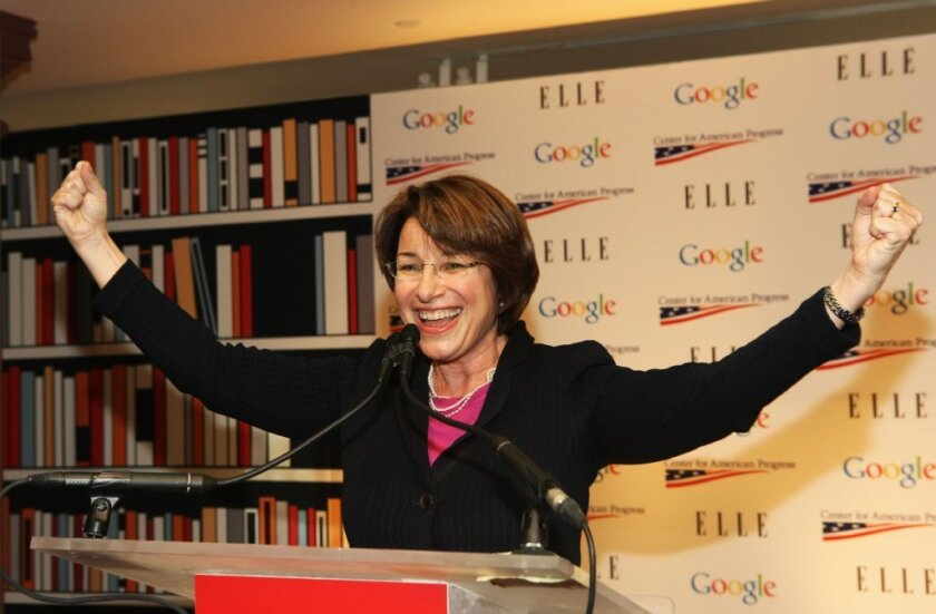 Sen. Amy Klobuchar (D-Minn.) said eight isn't enough for the Supreme Court.