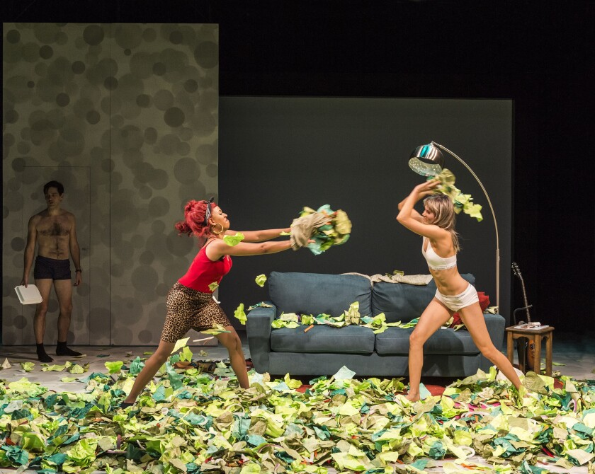 """Women Laughing Alone With Salad"" at the Kirk Douglas Theatre"
