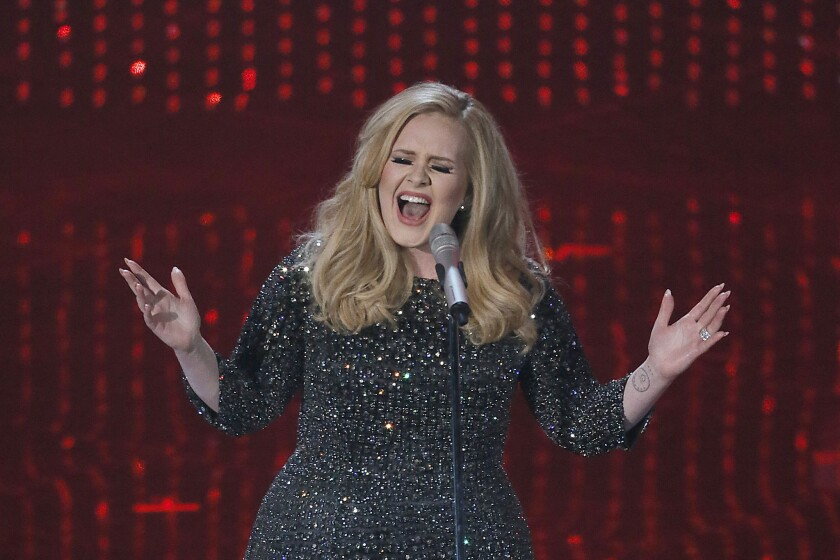 Adele performs at the 85th Annual Academy Awards at the Dolby Theatre in 2013.