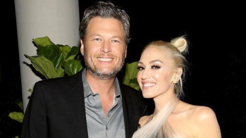 Blake Shelton and Gwen Stefani attend the Glamour Women of the Year 2016 Dinner on Nov. 14 in Hollywood. (Photo by Rachel Murray/Getty Images for Glamour)