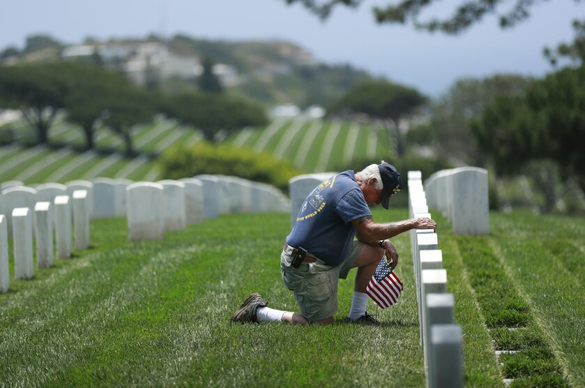 Fort Rosecrans National Cemetery a day before Memorial Day.