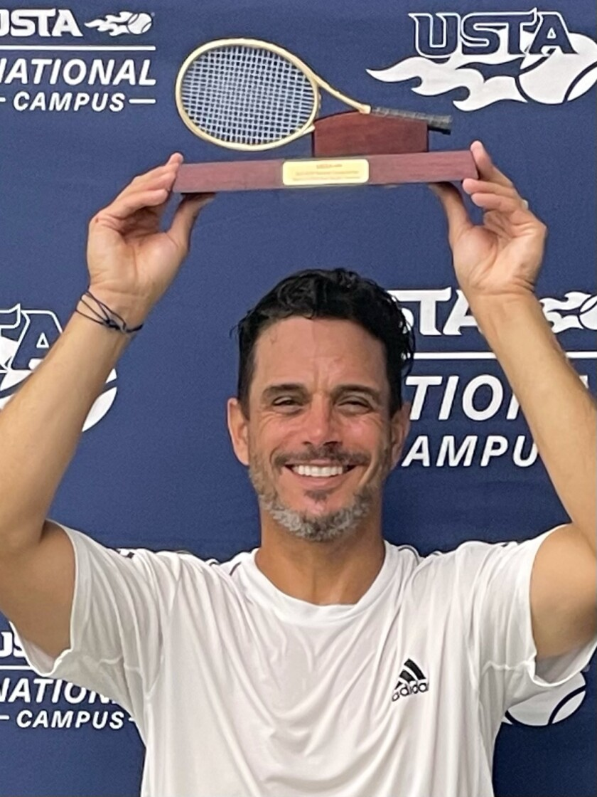 Rob Strasberg of La Jolla won the U.S. Tennis Association's Senior 50+ tournament in Orlando, Fla.
