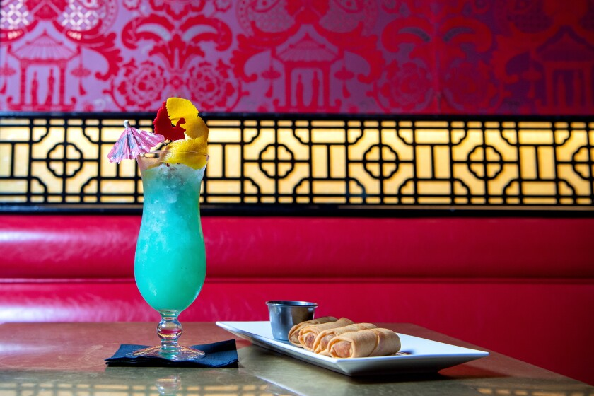 Love tiki drinks? Try this electric blue cocktail at the Formosa Cafe