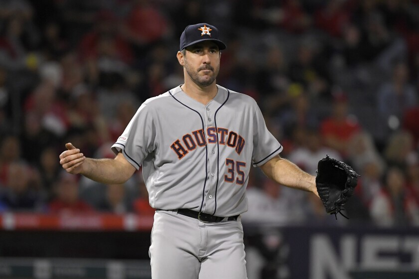 Astros ace Justin Verlander could win his second Cy Young Award this season.