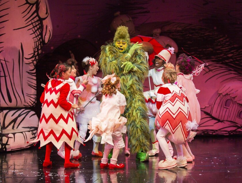 How The Grinch Stole Christmas Musical.Review New Grinch Enlives Globe Classic The San Diego