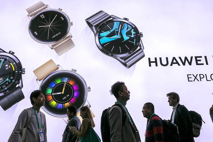 A Huawei exhibit at the Consumer Electronics Show in Las Vegas in January.