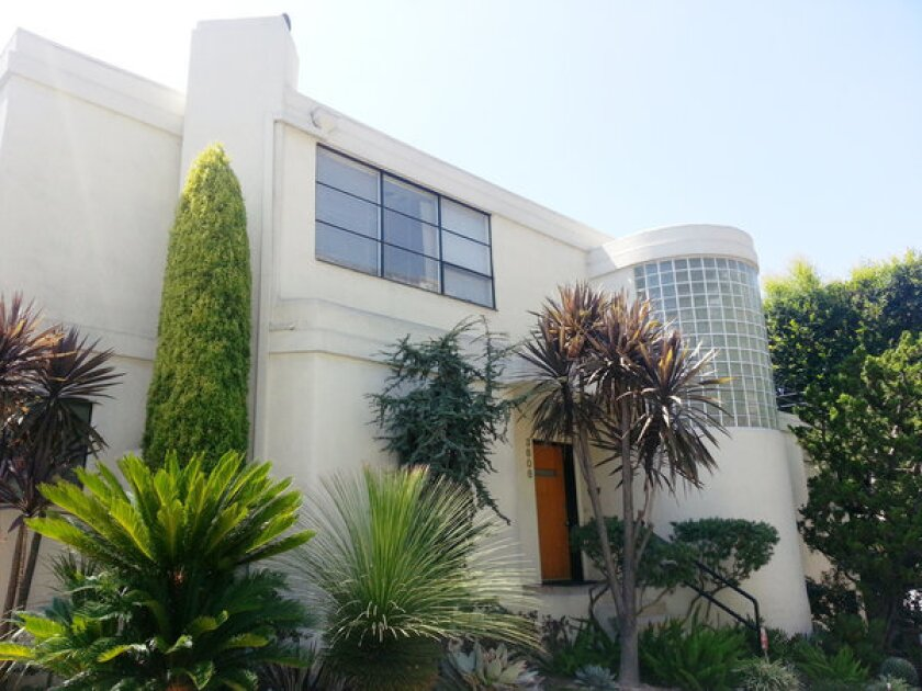 The 1937 Streamline Moderne house is widely attributed to architect William Kesling.