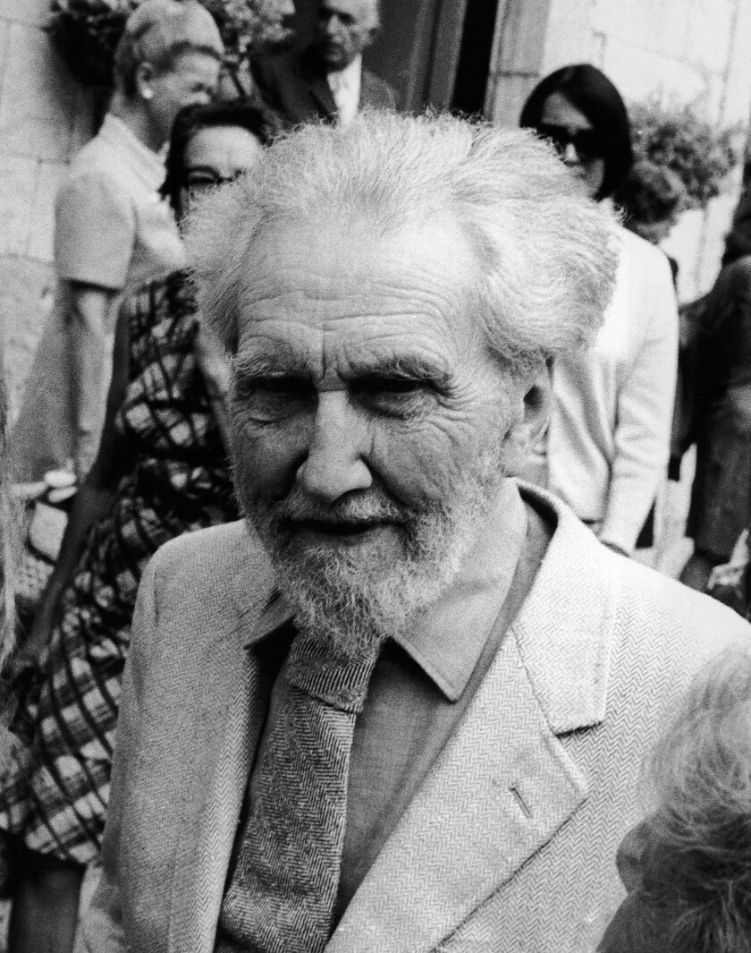 "Poet Ezra Pound, shown in Italy in 1969, defined literature as ""news that stays news."" (AP Photo)"