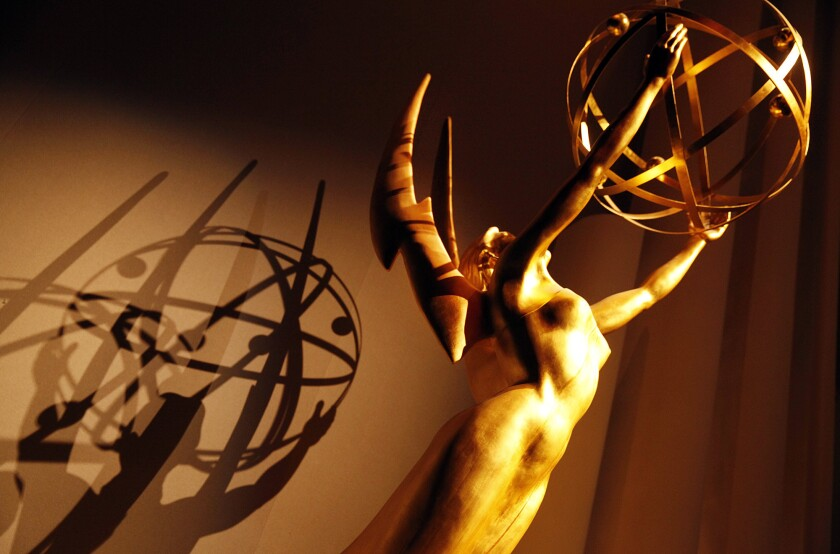 Giant Emmy at the 2014 nominations announcement ceremony