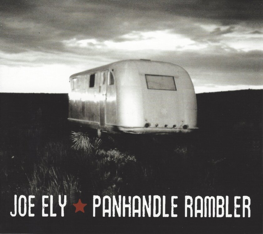 "This CD cover image released by Rack Em Records shows ""Panhandle Rambler,"" by Joe Ely. (Rack Em Records via AP)"