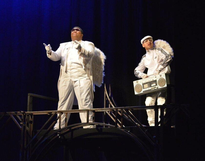 "Willie Green (left) and Edwin Frank Ortiz in ""La Pastorela de Plata."""