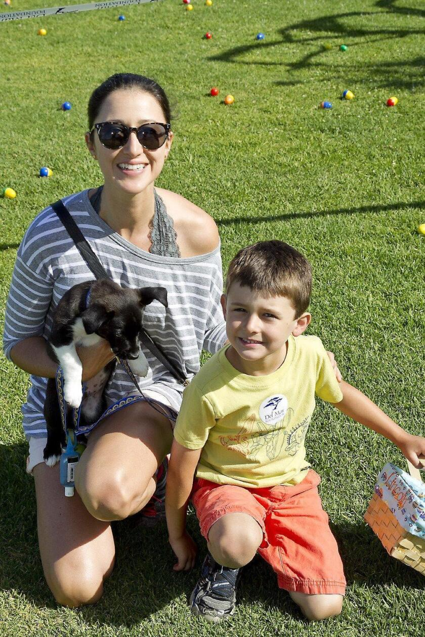 Michelle and Lincoln Peck with Maui