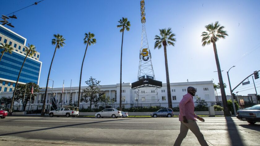 Sunset Bronson Studios, home of KTLA-TV Channel 5 in Los Angeles, Calif., in December.