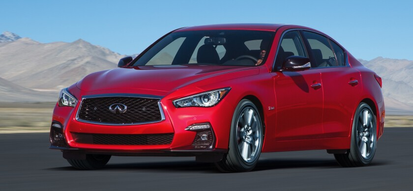 2020 Infiniti Q50 Red Sport 400 Treading A Thin Line The
