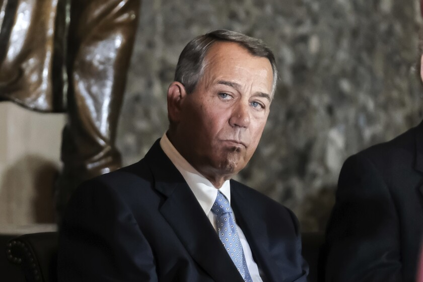 Former House Speaker John Boehner