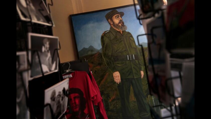 A portrait of Fidel Castro seen in a Havana shop in February 2015.