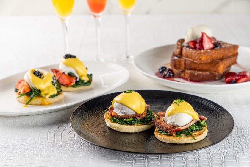 Mothers' Day brunch at STK Steakhouse in San Diego.