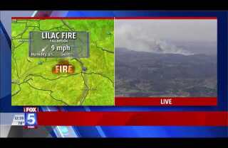 Lilac fire prompts evacuations