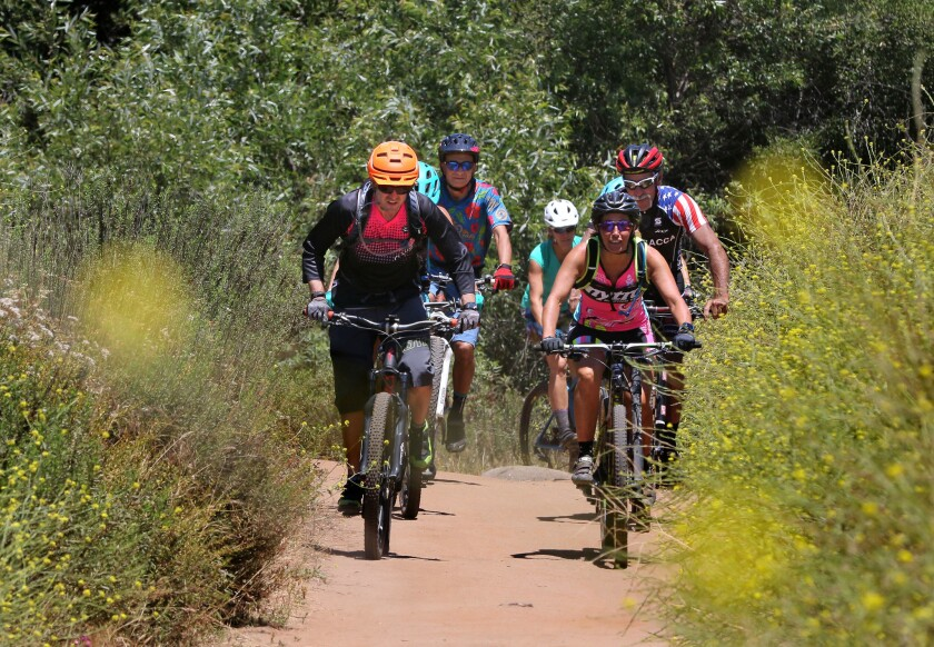 Members of the San Diego Mountain Bike Association.