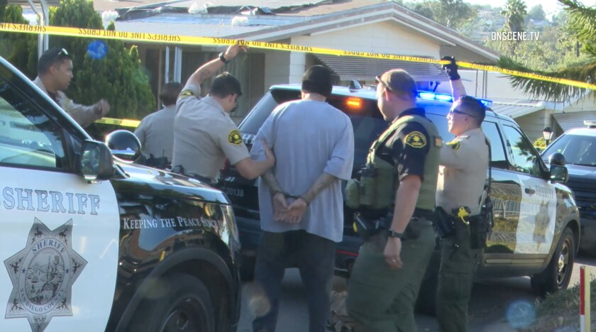 Sheriff's deputies detained Felix Joseph Hernandez, 50, Friday evening after he apparently surrendered in connection with a shooting that killed his brother, 65-year-old George Hernandez, at the Pana-Rama Mobile Home Estates in Lakeside.