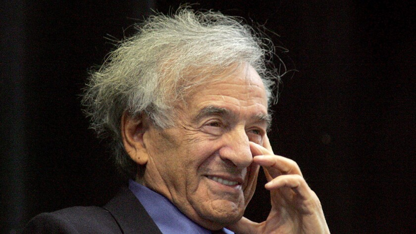 "Elie Wiesel, the concentration camp survivor who became the literary conscience of the Holocaust, was awarded the peace prize for his message to mankind of ""peace, atonement and human dignity."""