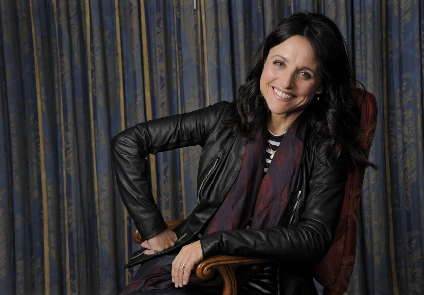 """Julia Louis-Dreyfus, a cast member in the film """"Enough Said,"""" poses for a portrait on day 4 of the 2013 Toronto International Film Festival on Sunday, Sept. 8, 2013 in Toronto."""