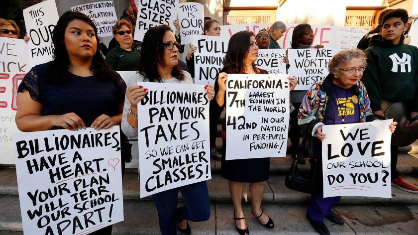 'Walk-In' at Hamilton High School in Los Angeles