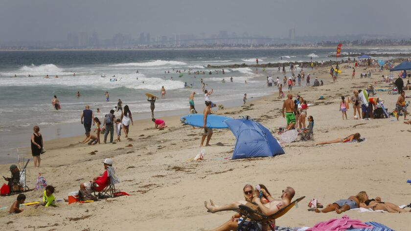 Large crowds spent time at the beach in Imperial Beach last year for the Labor Day weekend.