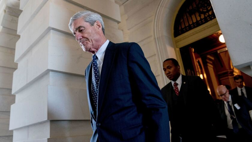 Special counsel and former FBI Director Robert Mueller is shown in June.