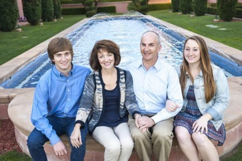 Dr. Bruce Kahn with his wife, Janet, and their twins Brendan and Natalie.