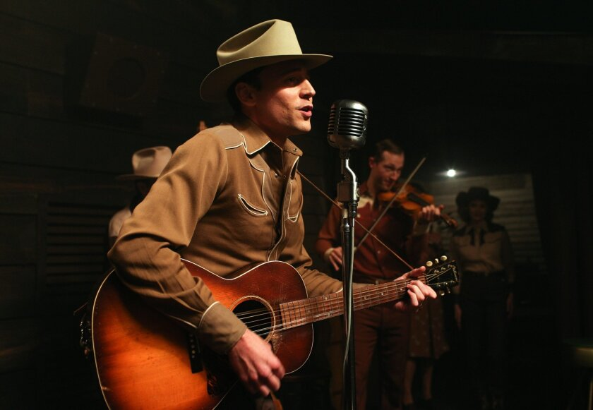 """This image released by Sony Pictures Classics shows Tom Hiddleston as Hank Williams in a scene from, """"I Saw The Light."""" (Sam Emerson/Sony Pictures Classics via AP)"""