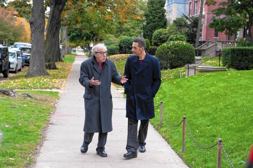 "Woody Allen, left, and John Turturro star in ""Fading Gigolo."""