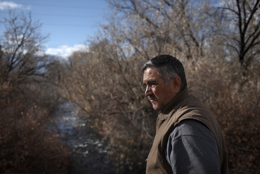 Vicente Fernandez's family has lived in Taos Valley for generations. He worries that a rollback of clean water rules will lead to more pollution flowing into vital waterways.