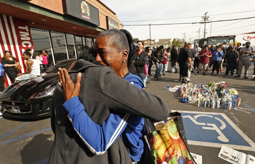 Nipsey Hussle gunned down in a South L A  he helped build up