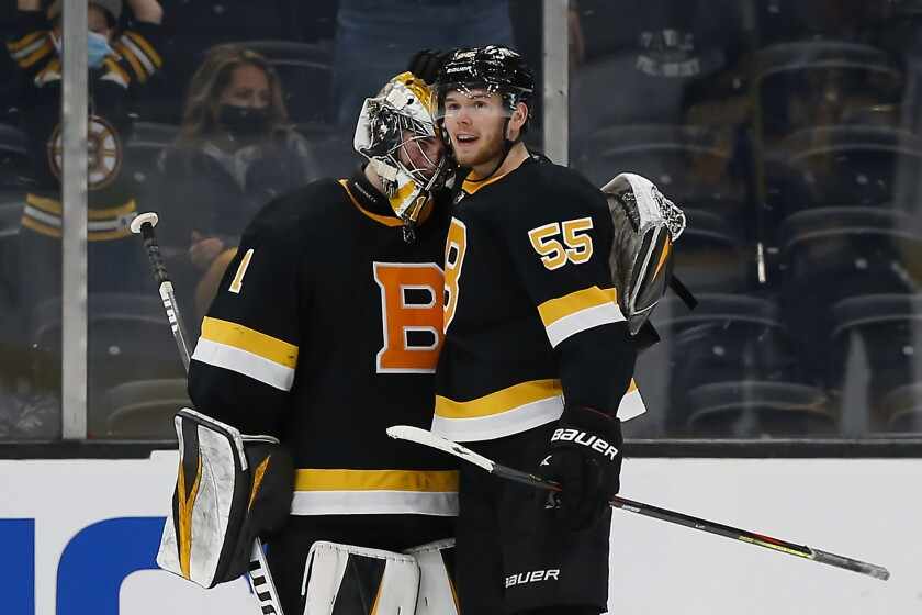 Hall, Swayman lift Bruins past Islanders 3-0 - The San Diego Union-Tribune