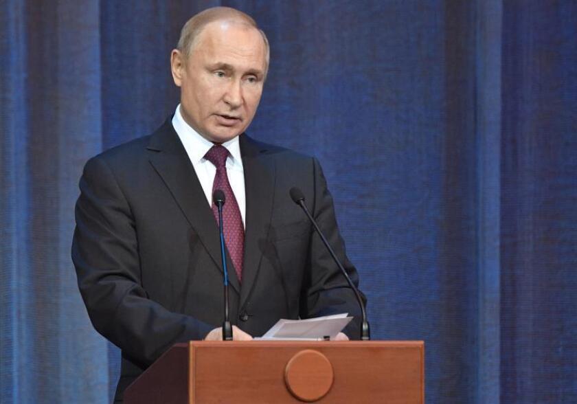 El presidente ruso, Vladímir Putin. EFE/Archivo