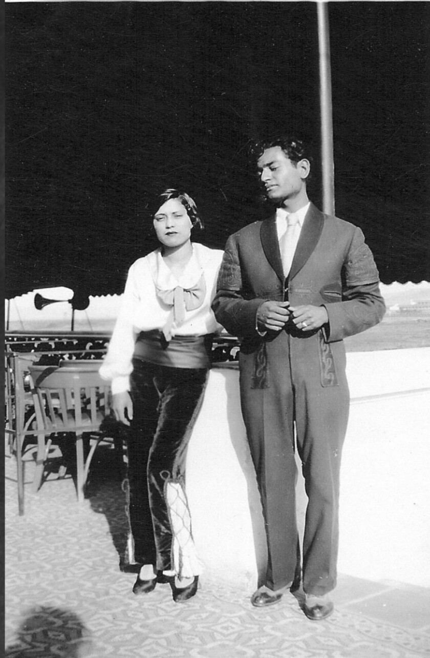 Elvira (with friend/coworker) at Agua Caliente, Tijuana circa 1932. In ?Native Country,? she is most