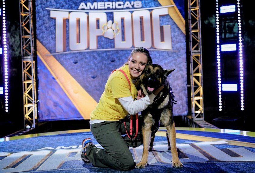 """Aolanis Fonseca, of La Mesa, and her dog, Saint, competed on the 2021 Season 2 premiere of A&E's """"America's Top Dog."""""""