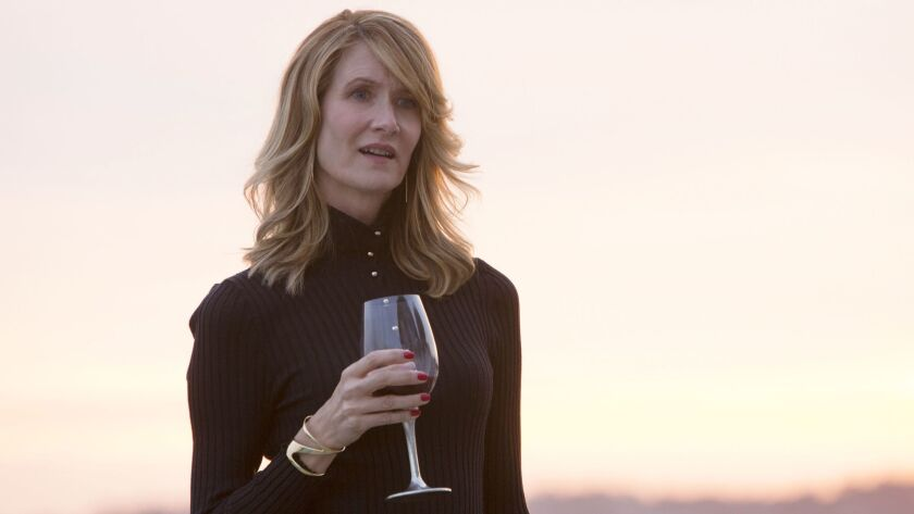 """This image released by HBO shows Laura Dern in """"Big Little Lies."""" Dern was nominated for a Golden Gl"""