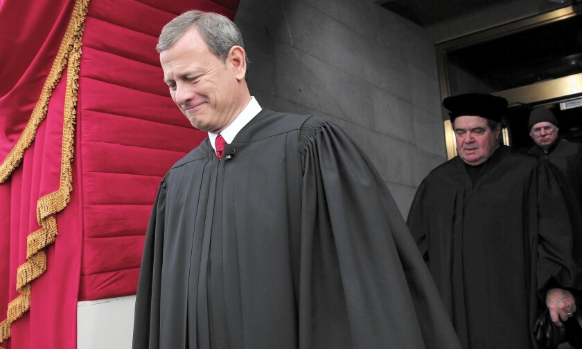 """Chief Justice John G. Roberts Jr. says he dislikes the regular references to the """"conservative bloc"""" or the """"liberal wing"""" of the Supreme Court, which he's led for a decade."""
