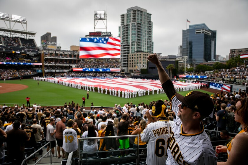 Padres dubbed it Opening Day, with all the pomp and circumstance that is typical of the first home game of the season.