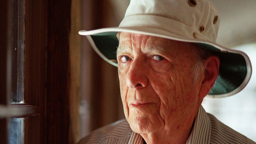 Author Herman Wouk at his home in Palm Springs in 2000.