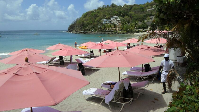 The beach at BodyHoliday St. Lucia offered good swimming, relaxing and snorkeling. Doug Hansen photo