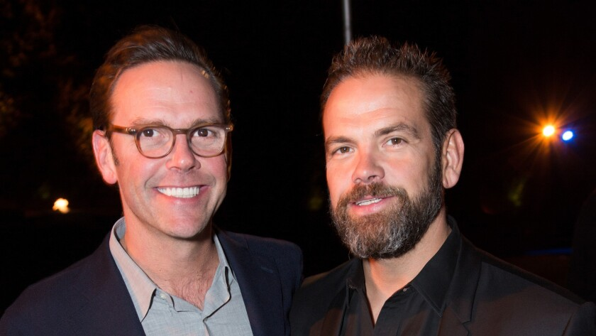 James Murdoch and Lachlan Murdoch attend the Ghetto Film School event this month.