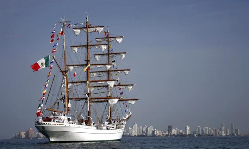 En la imagen, el buque escuela ARM Cuauhtémoc de la Secretaría de Marina de la Armada de México. EFE/Archivo