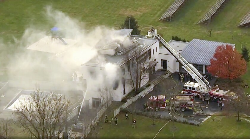 A four-person family was killed in a mansion fire in Colts Neck, New Jersey, Thursday.
