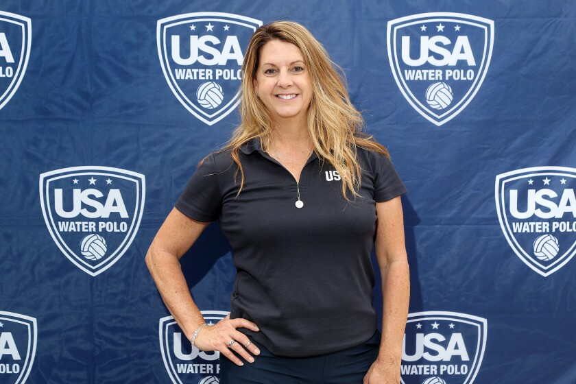Newport Beach resident Lori Verdegaal is the team manager for the U.S. Olympic men's water polo team.