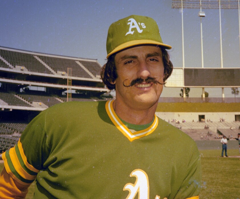 Oakland Athletics pitcher Rollie Fingers in 1976.
